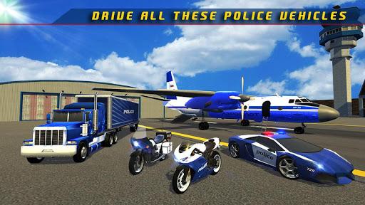Police Plane Transporter Game  screenshots 13