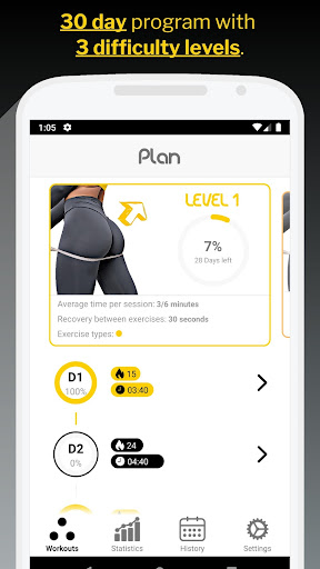 30 Day Butt & Leg Challenge women workout home 1.1.15 Screenshots 1