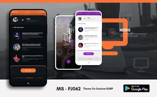 MS - PJ062 Theme for KLWP  screenshots 3