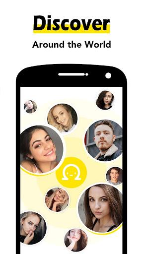 Omega - Random Video Chat & Live Talk android2mod screenshots 3