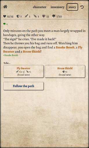 Path of Adventure - Text-based roguelike androidhappy screenshots 2