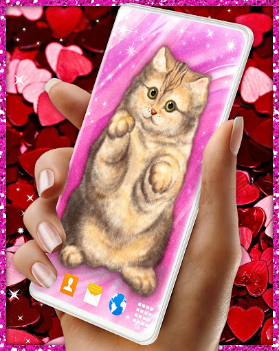 Cute Cat Live Wallpaper u2764ufe0f Fluffy Kitty Wallpapers modavailable screenshots 1