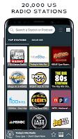 screenshot of Radio USA - 20,000 US radio stations
