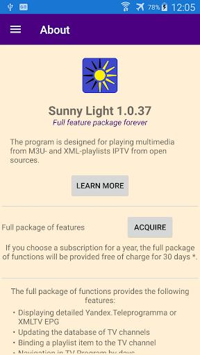 Foto do Sunny Light M3U & XML IPTV Player with TV program