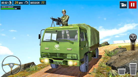 offroad army truck driving game hack