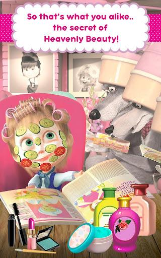 Masha and the Bear: Hair Salon and MakeUp Games apkpoly screenshots 13
