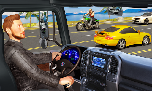 traffic highway truck racing - truck driving screenshot 1