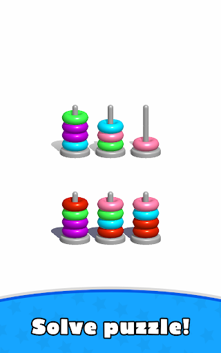 Sort Hoop Stack Color - 3D Color Sort Puzzle apkslow screenshots 15