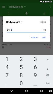 Progression Body & Weight Log