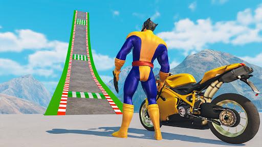 Superhero Bike Stunt GT Racing - Mega Ramp Games 1.21 screenshots 1