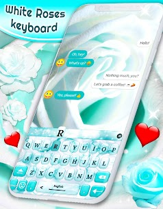White Rose Keyboard 🌹 Beautiful Blue Roses Themes 2.3.2 APK Mod for Android 1