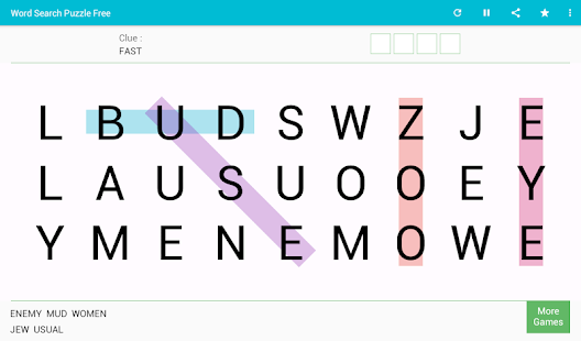 Word Search Free Game Screenshot