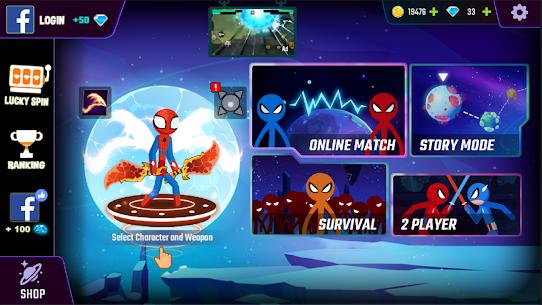 Spider Stickman Fight 2 Mod Apk (Unlimited Money/Gems) 8