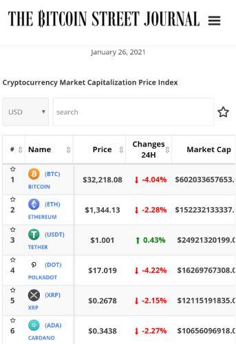 The Bitcoin Street Journal