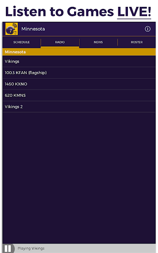 minnesota football radio screenshot 1