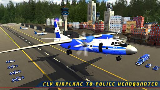 Police Plane Transporter Game  screenshots 7