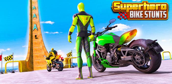 Superheld-Bike Stunt GT Racing - Mega Ramp Spiele