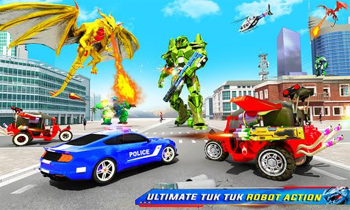 Tuk Tuk Rickshaw Dragon Robot Transform Robot Game  Screenshots 2