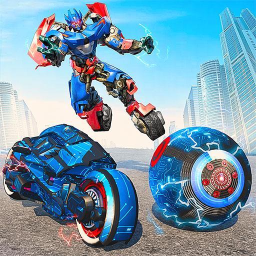 Ball Robot Transform Bike War: Robot Games