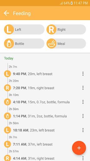 Baby tracker - feeding, sleep and diaper 1.0.94 Screenshots 4