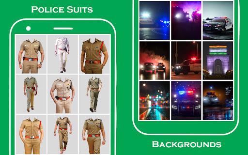 Men police suit photo editor  screenshots 5