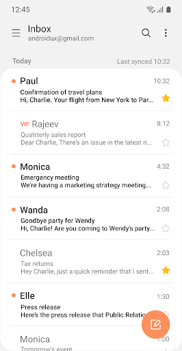 Samsung Email android2mod screenshots 2