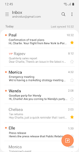 Samsung Email Screenshot