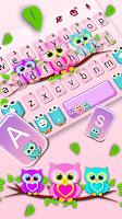 screenshot of Lovely Owls Keyboard Theme