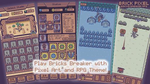 Télécharger Gratuit Bricks Pixel - Monster Bricks Breaker Battle RPG APK MOD (Astuce) screenshots 2