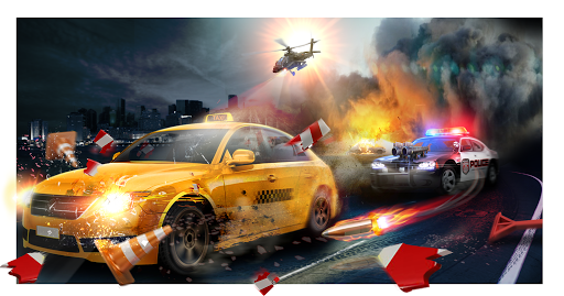 Police Chase -Death Race Speed Car Shooting Racing  screenshots 1