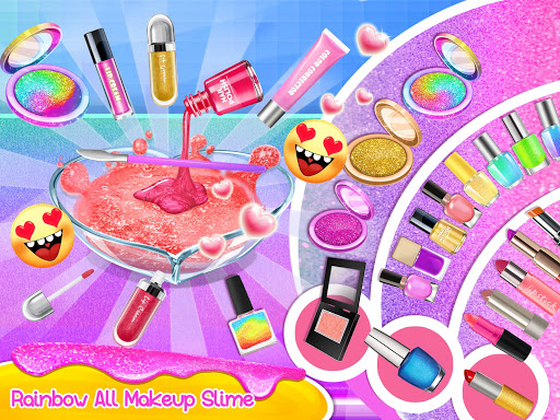 Makeup Slime - Fluffy Rainbow Slime Simulator apklade screenshots 2