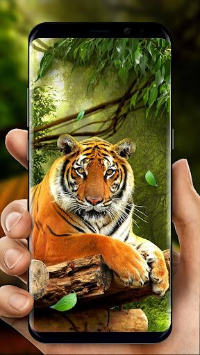 moving tiger live wallpaper screenshot 1