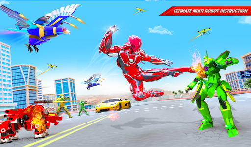 Flying Police Eagle Bike Robot Hero: Robot Games 30 Screenshots 12