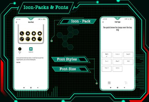 Visionary Launcher 2021 App lock, Hitech Wallpaper 27.0 Screenshots 7
