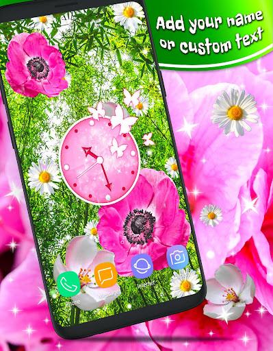 Pink Flower Live Wallpaper 🌺 Parallax Wallpapers  screenshots 1