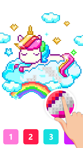 Pix123 - Color by Number, Pixel Art Relaxing Paint 2.4.8 screenshots 7