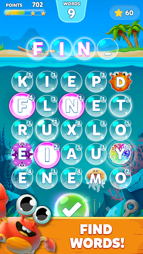 Bubble Words - Word Games Puzzle 1.4.1 screenshots 1