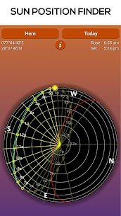 Sun Seeker v5.0.1 Patched APK – Sunrise Sunset Times Tracker, Compass 2