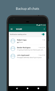 WAMR - Recover deleted messages & status downloadのおすすめ画像1