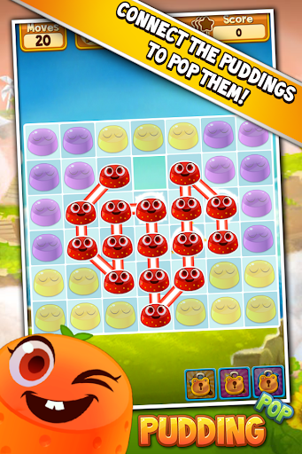 Pudding Pop - Connect & Splash Free Match 3 Game screenshots 1