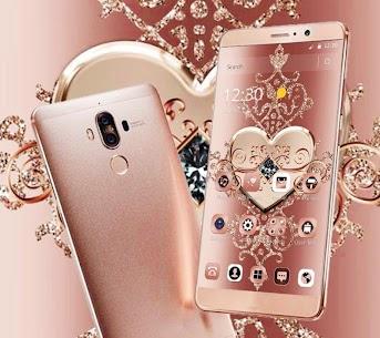Rose Gold Diamond Heart Luxury Theme 1.1.2 Download Mod Apk 2