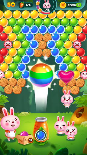 Bubble Bunny: Animal Forest Shooter apkpoly screenshots 3