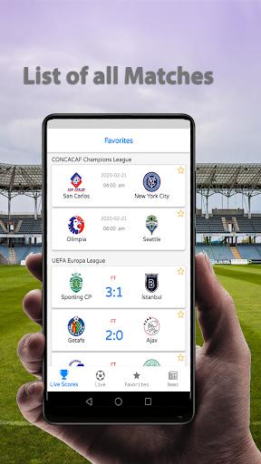 Live Football Scores 2020  screenshots 1