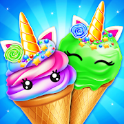 Unicorn Ice Cream Cone Maker: Frozen Dessert Game