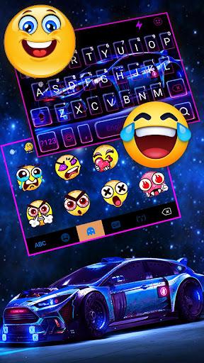 Racing Sports Car Keyboard Theme 1.0 Screenshots 3