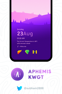Aphemis KWGT Apk [PAID] for Android 2