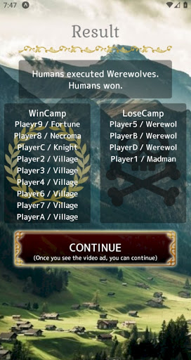 Werewolf -In a Cloudy Village- 5.1.1 screenshots 8
