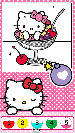Hello Kitty Coloring Book 1.1.0 screenshots 9