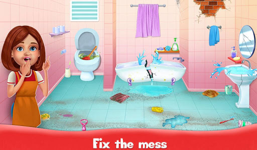 Big Home Cleanup and Wash : House Cleaning Game apkpoly screenshots 2