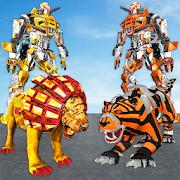 Ultimate Robot Lion Vs Tiger Robot Transform